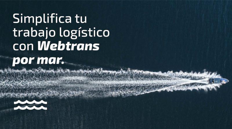 WebTrans Lanza un Nuevo Servicio para Impulsar la Logística por Mar